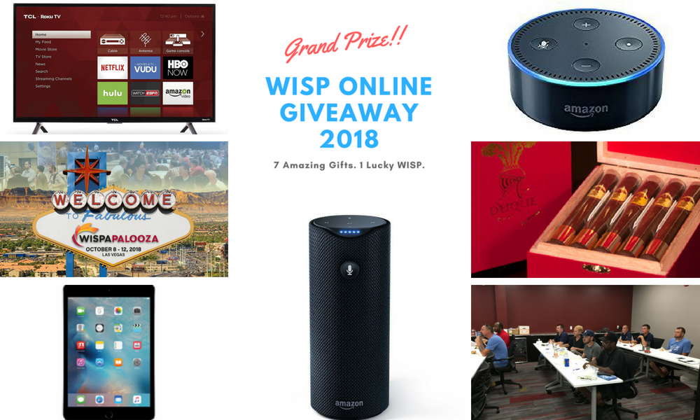 WISP GiveAway 2018  – It's a Wrap (Find out who won)