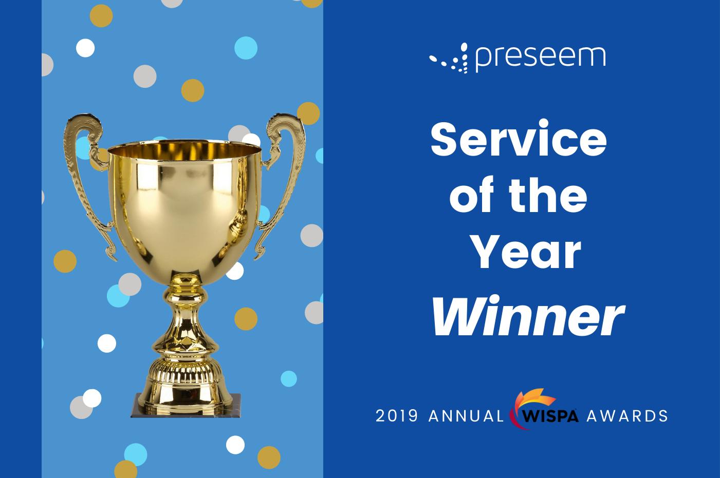 Preseem Wins Service of the Year Award – WISPA Annual Awards 2019